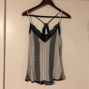 Racerback Striped Tank Top